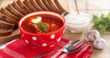 russian national red soup-borscht